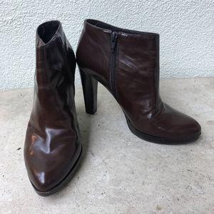 Nine West Brown Booties